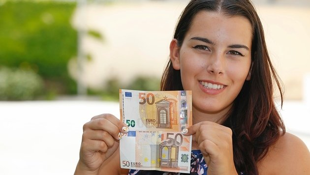 Der neue 50-Euro-Schein wird ab 4. April 2017 in Umlauf gebracht. (Bild: Martin A. Jöchl)