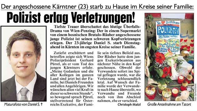 Getöteter Polizist (23) mit allen Ehren beigesetzt (Bild: Kronen Zeitung)