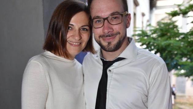 Mime Florian Teichtmeister mit seiner Katja (Bild: Andreas Tischler)