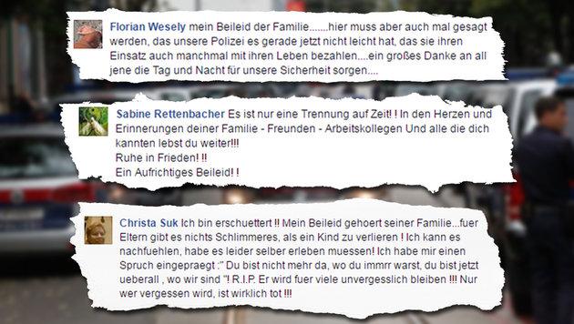 """Trauer im ganzen Land: """"Ein Held ging von uns"""" (Bild: Martin A. Jöchl, facebook.com)"""