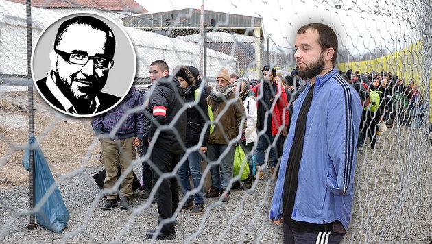 Wie riskant und teuer die rot-grüne Asylpolitik ist, demonstriert der Fall Ahmed Tschatajew (re.). (Bild: twitter.com, Klemens Groh)