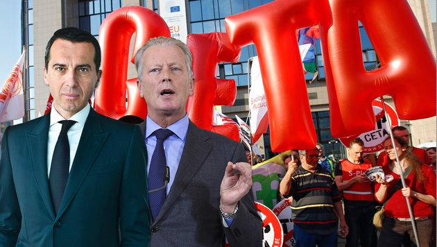Jetzt deutlich Nein sagen zum CETA-Handelspakt! (Bild: EPA/APA)