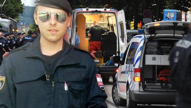 Der Polizist Daniel S. (23) wurde von dem Billa-Räuber erschossen. (Bild: APA/HERBERT P. OCZERET, privat)