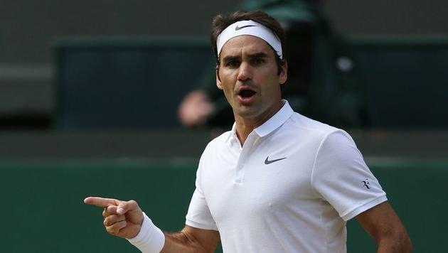 Mega-Krimi! Federer rackert sich ins Semifinale (Bild: APA/AFP/JUSTIN TALLIS)