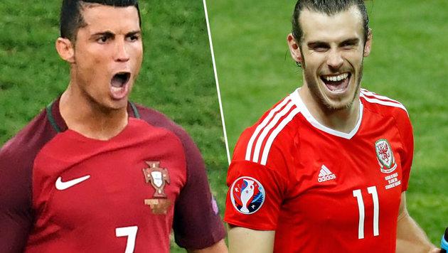 Portugal - Wales: Heißes Duell der Real-Superstars (Bild: AFP/BORIS HORVAT, AP/Andrew Medichini)