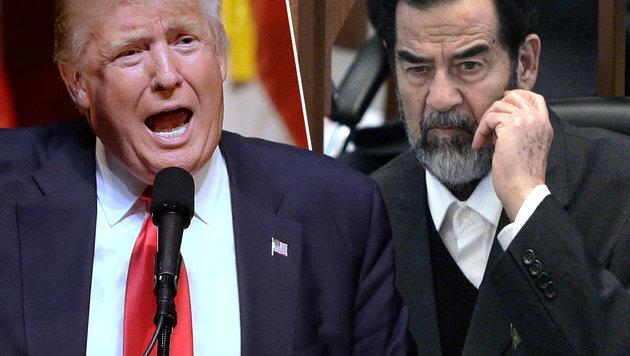 Trump lobt Saddam für das Töten von Terroristen (Bild: NIKOLA SOLIC/AFP/picturedesk.com, AP)