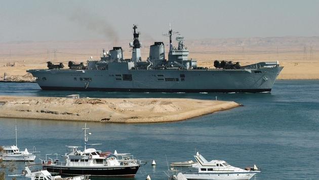 Das britische Kriegsschiff HMS Ark Royal im Jahr 2003 während des Irakkriegs (Bild: AFP)