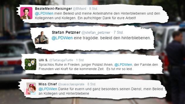 Auf Twitter kondolierten auch NEOS-Politikerin Beate Meinl-Reisinger und Stefan Petzner. (Bild: Martin A. Jöchl, twitter.com)
