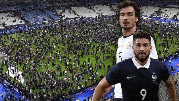 Wegen Paris-Terrors: Frankreich verschiebt Match (Bild: APA/AFP/FRANCK FIFE)