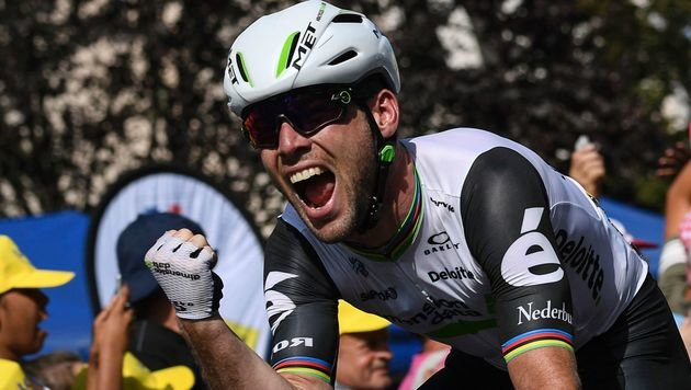 Cavendish holt seinen heuer bereits 3. Etappensieg (Bild: AFP)