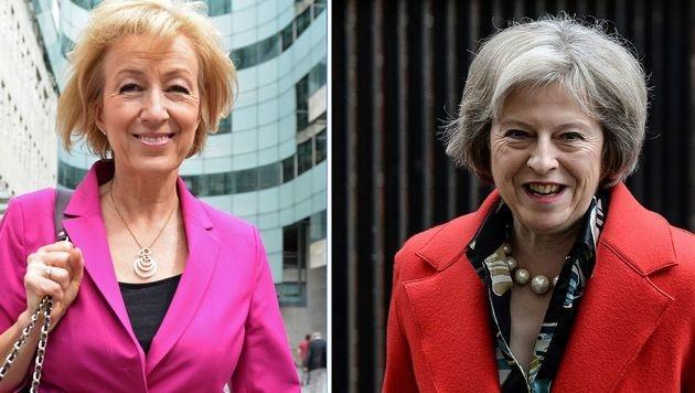 Nur noch Andrea Leadsom (li.) und Theresa May sind im Rennen um die Cameron-Nachfolge. (Bild: AFP)