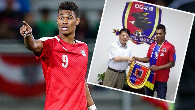 Rubin Okotie geht in zweite (!) chinesische Liga (Bild: GEPA, Facebook/RubinOkotie)