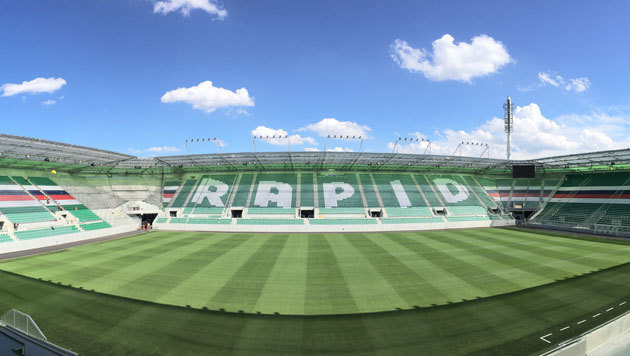 STRABAG übergibt Allianz Stadion an Rapid (Bild: SK Rapid)