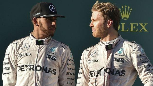 Verschärfte Spielregeln für Hamilton und Rosberg (Bild: APA/AFP/SAEED KHAN)