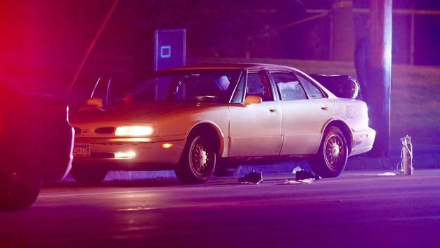 In diesem Auto wurde der 32-jährige Schwarze von einem Polizisten erschossen. (Bild: AP)