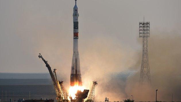 Drei Astronauten auf Raumstation ISS eingetroffen (Bild: APA/AFP/Vasily Maximov)