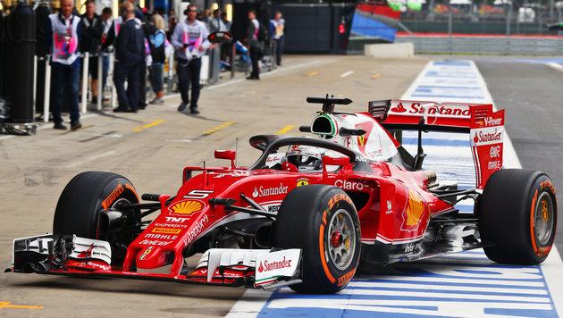 Ferrari setzte in Silverstone Cockpitschutz ein (Bild: GEPA)