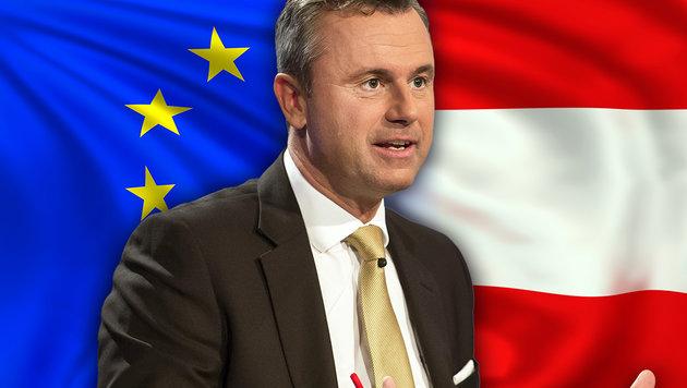 """FPÖ-Präsidentschaftskandidat Hofer wünscht sich """"ein starkes Österreich in einer starken EU"""". (Bild: APA/ORF/THOMAS JANTZEN, thinkstockphotos.de)"""