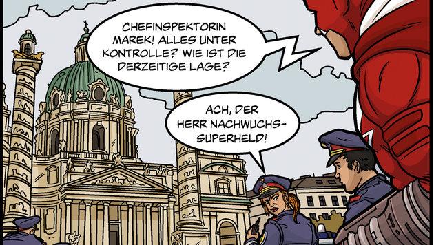 """""""Comic-Superhelden retten Wien vor dem Untergang (Bild: Austrian Superheroes)"""""""