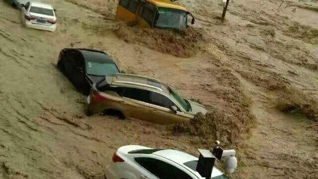 """China: Taifun """"Nepartak"""" richtet große Schäden an (Bild: APA/AFP/STR)"""