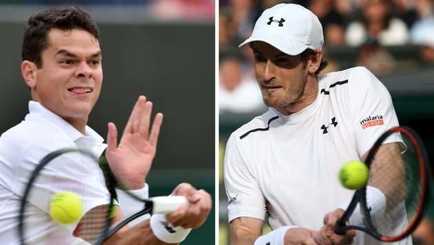 Murray im Finale gegen Raonic erstmals Favorit (Bild: AFP)