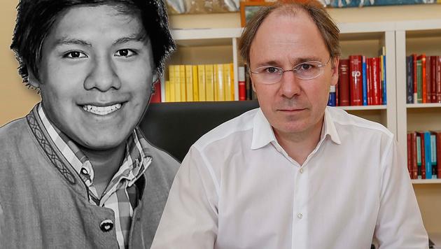 Anwalt Stefan Riedler (rechts) will den Fall um den Tod von Albert (links) neu aufrollen. (Bild: Markus Tschepp)