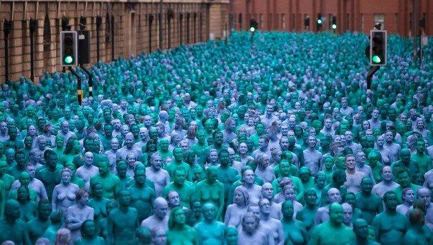 3200 Nackte posieren für Fotokünstler (Bild: APA/AFP/Jon Super)