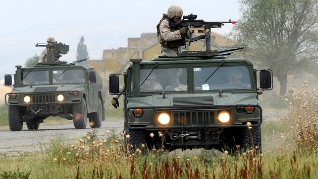 US-Soldaten bei einer NATO-Übung in Georgien (Bild: NINA SHLAMOVA/AFP/picturedesk.com)