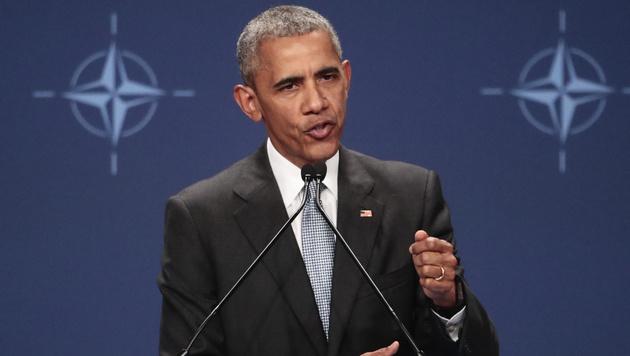 US-Präsident Barack Obama beim NATO-Gipfel in Warschau (Bild: AP)