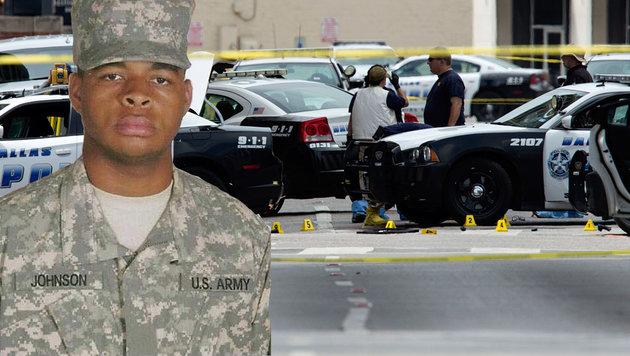 Dallas-Heckenschütze plante weit größeren Angriff (Bild: APA/AFP/HO, APA/AFP/Laura Buckmann)