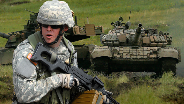 Säbelrasseln gegen Putin: NATO rüstet im Osten auf (Bild: EPA, AFP/picturedesk.com/Nina Shlamova)