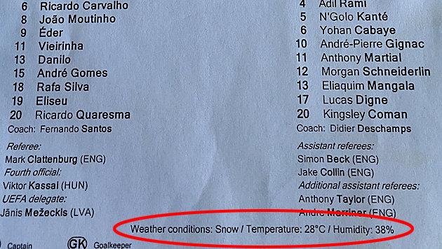 """Schnee beim Finale? UEFA passiert EM-Hoppala (Bild: """"Krone"""")"""