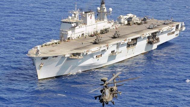 USA starteten Seemanöver mit Südkorea und Japan (Bild: APA/AFP/MOD/LA GUY)