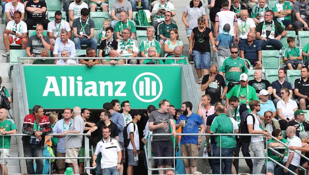 Über 6000 Rapid-Fans beschnupperten neues Stadion (Bild: GEPA)