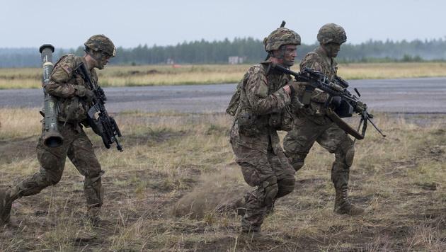 Soldaten bei einer NATO-Übung in Litauen (Bild: AP)