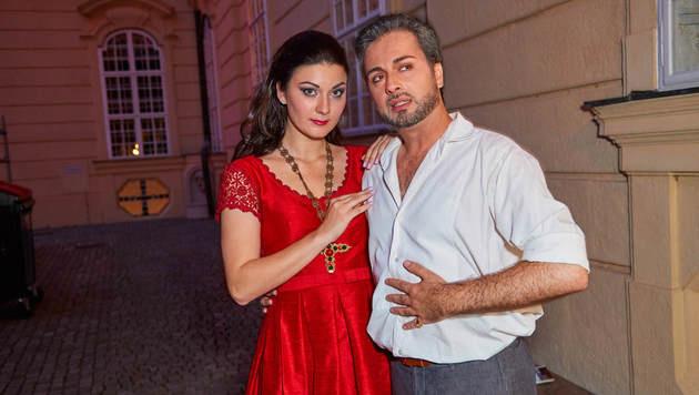 Begeisterten auf der Bühne: Anna Marchaniya, Bruno Ribeiro (Bild: Starpix/Alexander TUMA)
