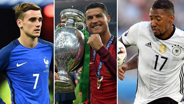 4 mal Portugal, 3 mal DFB: Das ist die Elf der EM (Bild: AFP, AP)