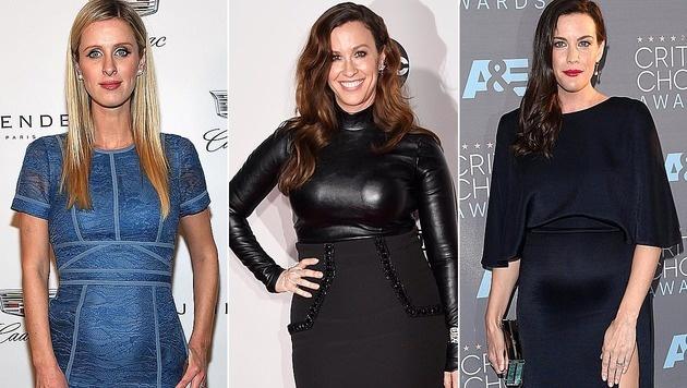 Nicky Hilton, Alanis Morissette, Liv Tyler (Bild: AFP)