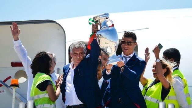 So feierten Cristiano Ronaldo und Co. den EM-Titel (Bild: AFP)