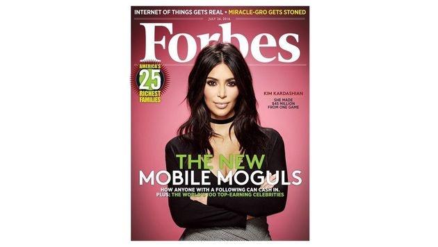 """Kim Kardashian ziert das Cover des aktuellen """"Forbes"""". (Bild: Forbes)"""
