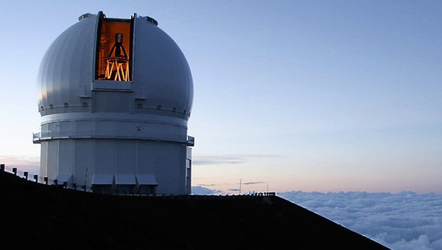 Das Canada-France-Hawaii-Teleskop auf dem Maunakea auf Hawaii (Bild: Canada-France-Hawaii-Telescope Hawaii)