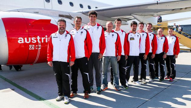 Das österreichische Davis-Cup-Team. Hier noch ohne Gerald Melzer. (Bild: GEPA pictures/ Philipp Brem)