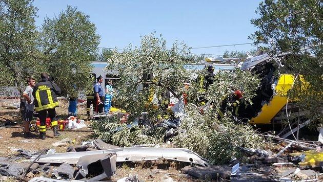 Zugkatastrophe in Italien: Suche nach Schuldigen (Bild: AFP/Vigili del Fuoco)