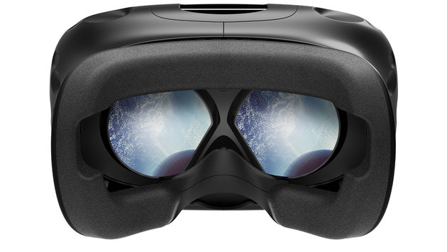 Trotz hoher Auflösung erkennt man bei Verwendung der Vive immer noch Einzelpixel in der VR. (Bild: HTC)