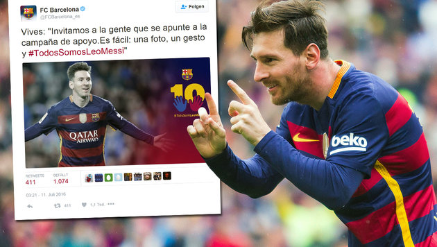 Barcelona kämpft via Twitter um Lionel Messi (Bild: twitter.com, GEPA)