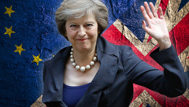 Premierministerin Theresa May wird am 29. März offiziell den Brexit beantragen. (Bild: thinkstockphotos.de, ASSOCIATED PRESS)