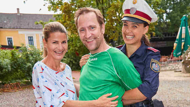 Doris Hindinger, Christian Strasser und Franziska Hetzel (Bild: Starpix/ Alexander TUMA)