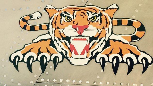 """Das Logo der """"Tiger""""-Staffel in Linz-Hörsching (Bild: Richard Schmitt)"""