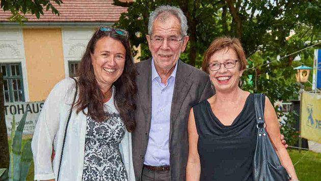 Monika Langthaler, Alexander Van der Bellen und Frau Doris Schmidauer (Bild: Starpix/ Alexander TUMA)