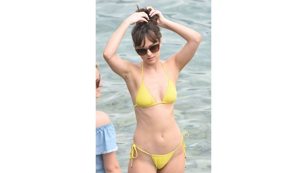 "Dakota Johnson bei den ""Fifty Shades Darker""-Dreharbeiten in Nizza (Bild: Walker/face to face)"